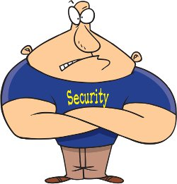 a strong security guard