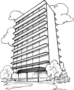 A tall building