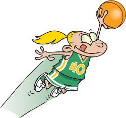 a girl who is great at basketball