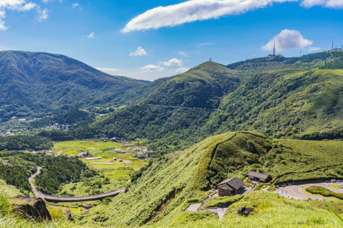 Yangmingshan national park in Taiwan